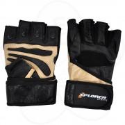 Fitnes rukavice Xplorer bež-koža, XL