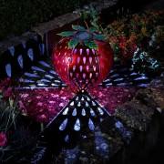Kerti napelemes LED eper világítás 26 cm