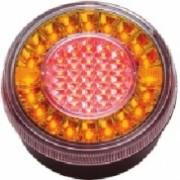 Lampa stop auto rotunda LED cu functii de Semnalizare-Ceata 12/24V