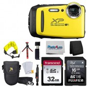 Fujifilm FinePix XP140 Digital Camera + 48GB SD Card + Floating Strap + Cleaning System + 12 Flexible Tripod + Screen Protectors + SD Card Reader + Memory Card Wallet + Camera Case (Yellow)