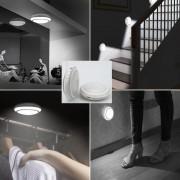 LED svetlo okrúhle na Li-on batériu + pohybový senzor