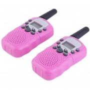 ER 2pcs X RT-388 0.5W 22CHLos Niños Los Niños Regalo Two Way Radio Walkie Talkie-- Rosa