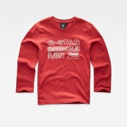 G-star RAW Garçons T-Shirt Rouge