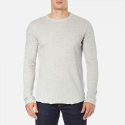 Edwin Men's Terry Long Sleeve T-Shirt - Grey Marl - S - Grey