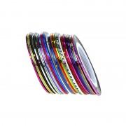 30 Stks 2 m Gemengde Kleuren Rolls Striping Tape Line Nail Art Decoratie Sticker DIY Decals Maange