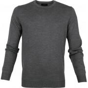Profuomo Pullover O-Ausschnitt dunkelgrau - Anthrazit Größe L