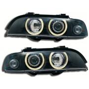 Faruri Angel Eyes pentru masini cu reglaj electronic incorporat BMW Seria 5 E39 95-00 negru