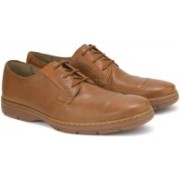 Clarks Watts Pace Tan Leather Formal For Men(Brown)