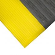 Šedo-žlutá gumová protiskluzová protiúnavová průmyslová rohož - 1830 x 90 x 0,9 cm (80000631) FLOMAT