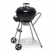 Klarstein Beef Baron, kerek grill szellőzéssel, hőmérő, kerekek, fekete (GQR3- Beef Baron)