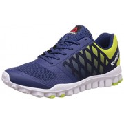 Reebok Men's Realflex Tr Lp Cobalt Blue, Hi Vis Green and White Multisport Training Shoes - 9 UK/India (43 EU) (10 US)