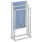 IDIMEX Porte-serviettes KUNO, en métal laqué blanc