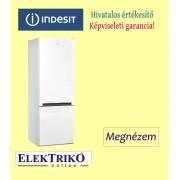 Indesit LI6S1W alulfagyasztós hűtőszekrény , A+ energiaosztály