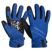 NatureHike Pantalla tactil Full-dedo vellon guante-Azul (Par / XL)