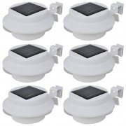 vidaXL Conjunto Lâmpada Solar 6 Peças de Exterior para a Cerca Calha