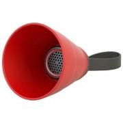 difuzor CAMERA NoName Bluetooth, 3W, controlul volumului, roșu, pliabil, rezistent la apa, Bluetooth + USB + 3,5 mm conector