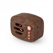 HXSJ B11 Vintage Style Mini Portable Bluetooth 5.0 Speaker Support TF Hands-free Calling Music Playing - Brown