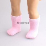 "Alcoa Prime Girls Toys Pink Socks Stockings Fit for 18"" American Girl Dolls Xmas Gifts"