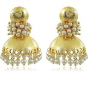 Spargz Traditional Gold Plated Beautiful Pearl Design Jhumki Earring For Women AIER 601