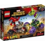 LEGO MARVEL SUPER HEROES - HULK CONTRA HULK CEL ROSU 76078