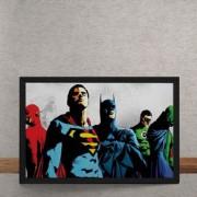 Quadro Decorativo Liga da_Justica DC Comics 25x35