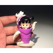 1pcs 7.5cm Monsters University Babblin Boo cute girl Figures Toy Miniature boo mini toys
