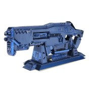 MU BGHN-1 3D DIY Metal Gun Puzzle Blue Model Collection Toy 100*35*15mm