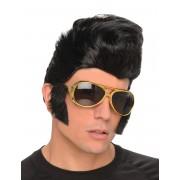 Deguisetoi Perruque Rockeur homme avec lunettes