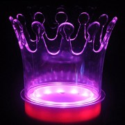 ELECTROPRIME Crown Color Changing Ice Bucket Wine Beer Champagne Drinks Cooler with LED L