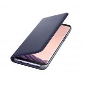Samsung LED View Cover EF-NG955PVEGWW - оригинален кожен калъф през който виждате информация от дисплея за Samsung Galaxy S8 Plus (виолетов)