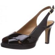 Clarks Women's Delsie Kala Black (Fit D) Leather Fashion Sandals - 6 UK