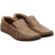 lee grain brown color branded leather loafer for men