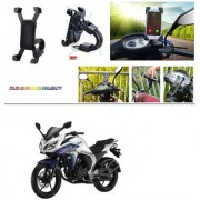 AutoStark Motorcycle Mount Cell Phone Holder/Installed to Motorcycle Rearview mirror Phone Mount For Yamaha FZ S V 2.0