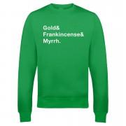 Gold Frank & Myrr Christmas Sweatshirt - Green - XL - Green