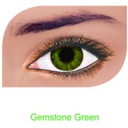 FreshLook Colorblends Power Contact lens Pack Of 2 With Affable Free Lens Case And affable Contact Lens Spoon (-0.75Gemstone Green)