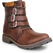 Digni MONK STRAP BOOT Boots For Men(Brown)