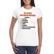 Shoppartners Halloween kostuum lijstje t-shirt wit dames