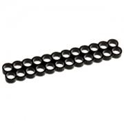 Clema E22 Stealth cu 24 sloturi pentru prinderea cablurilor, latime slot 4mm, culoare neagra