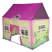 """Pacific Play Tents Kids Cottage Play House Tent Playhouse for Indoor / Outdoor Fun - 50"""" x 40"""" x 50"""""""