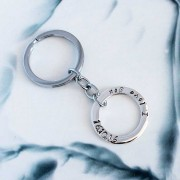 Hilary & June Personalised Circle Of Love Sterling Silver Key Ring