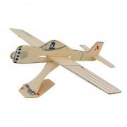 Tutti frutti vliegtuig bouwpakket hout 16 cm