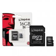 KINGSTON Karta Pamięci microSDHC 16GB z adapterem (SDC4/16GB)
