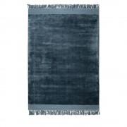 Zuiver Blink - Tapis à franges bleu pétrole - Couleur - Bleu pétrole, Dimensions - 170x240 cm