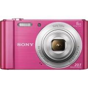 Sony »DSC-W810« Kompaktkamera (20,1 MP, 6x opt. Zoom, Gesichtserkennungstechnologie für bis zu 8 Gesichter (Kontrast, Helligkeit, Farbe), rosa