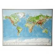 Georelief Harta fizica a lumii, mare, 3D