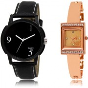 The Shopoholic Black Rose Gold Combo Best Combo Pack Black And Rose Gold Dial Analog Watch For Boys And Girls Mens Casual Watches