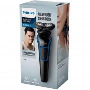 Afeitadora eléctrica para rostro Philips S528/S529 con máquina de afeitado recargable para hombre 100 240 V(azul S528)