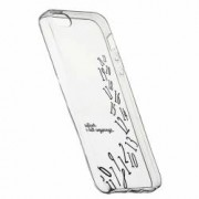 Husa Silicon Transparent Slim Whatever Im Late 141 Apple iPhone 5 5S SE