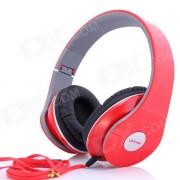 Ditmo DM-2600 3.5mm ajustable plegable auriculares auriculares con cancelacion de ruido estereo - rojo