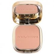 Dolce & Gabbana The Foundation Perfect Matte Powder Foundation матиращ фон дьо тен-пудра с огледалце и апликатор цвят No. 130 Honey 15 гр.